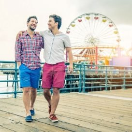 same sex couple enjoying their honeymoon after getting legal assistance from a Fort Wayne same sex lawyer